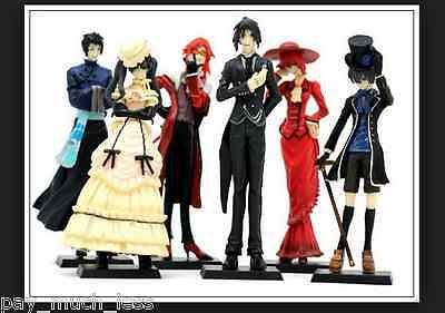 Black Butler Kuroshitsuji Ciel Japan Anime figures Set of 6pc