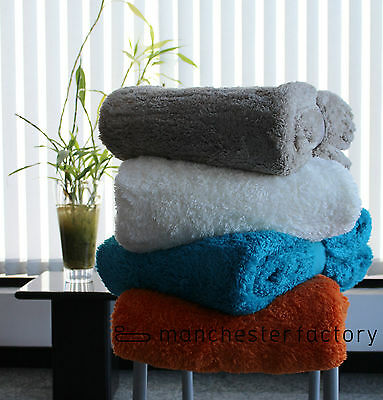 Shearling Faux Home Super Soft Large Fleece Sofa Bed Cover Warm Blanket Throw