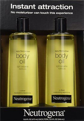 Neutrogena Body Oil Light Sesame Formula, 2 - 16 fl. oz bottles