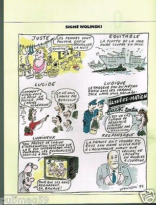 Breweriana, Beer Collectibles Publicité Advertising 1992 Dessin Signe Wolinski