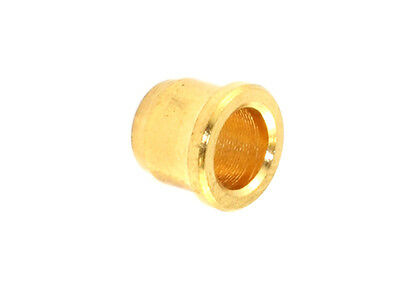 Smooth Guitar String Ferrules w/Lip • Gold (6)