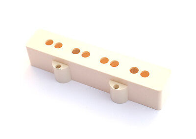 Jazz Bass Style Guitar Pickup Cover • White • Neck
