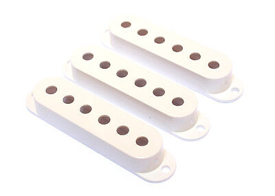 Stratocaster Strat Style Single Coil Guitar Pickup Covers • White
