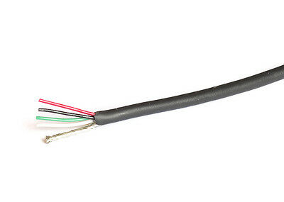 4 Conductor Shielded Pickup Wire for Guitar (1m)