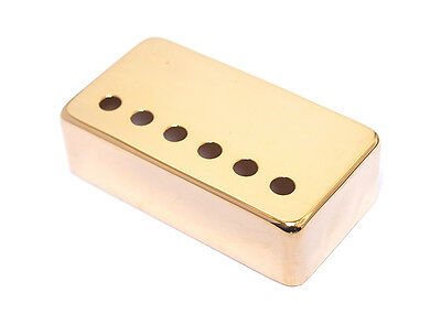 Nickel Silver Humbucker Guitar Pickup Cover • Gold • 52mm