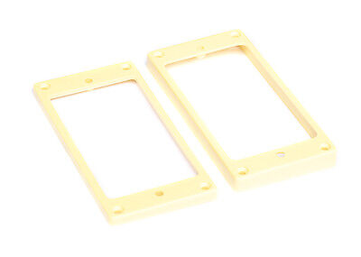 Humbucker Guitar Pickup Mounting Rings for Epiphone • Slanted • Cream