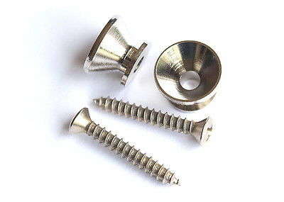 Guitar Strap Buttons Endpins • Nickel