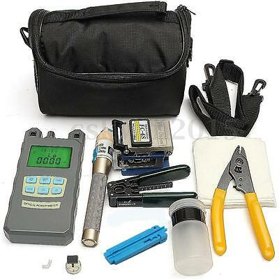 Fiber Optic FTTH Tools set with FC-6S Cleaver Optical Power Meter Fault Locator