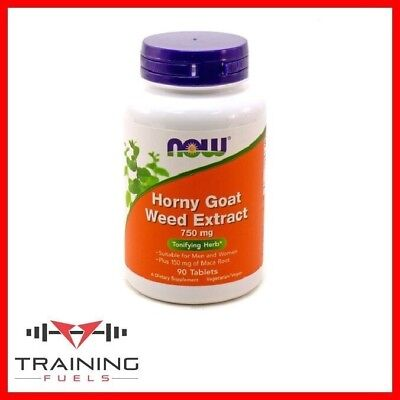 Now Foods Horny Goat Weed Extract 750mg, Virility & Libido, 90 Tabs