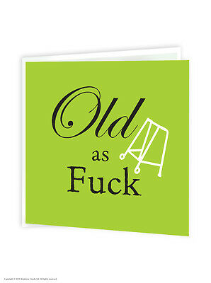 Brainbox Candy 'Old As F*ck' birthday card badge funny offensive humour cheeky