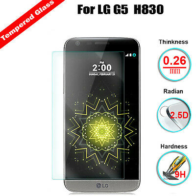 9H 2.5D Premium Tempered Film Glass Screen Protector Cover Shield For LG G5 H830