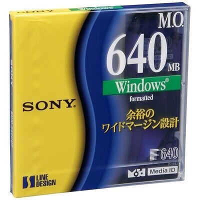 New Sony MO Disc for Data 640 MB 3.5 inch EDM-640CDF Windows Format Japan