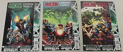 Marvel: The Incredible Hulk Enigma Force (2010) #1-3 COMPLETE SET
