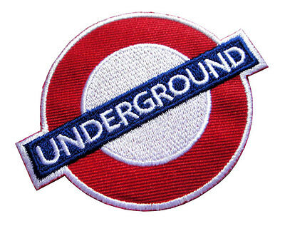 Underground Railway Tube Logo Symbol Embroidered Iron on Patch Free Shipping