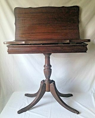 Vintage Brandt Mahogany Folding Game Table w Paw Claw Feet Flip Top