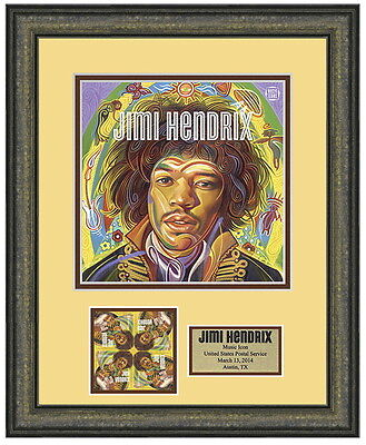 USPS New Jimi Hendrix Stamp Framed Art