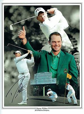Danny WILLETT Golf Masters SIGNED Autograph 16x12 Montage Photo 1 AFTAL COA