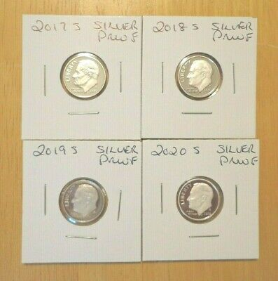 2014 S 2015 S 2016 S Silver Proof Roosevelt Dime 3 Coin Set Lot