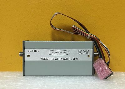 Wiltron/Anritsu 4612K, DC to 40 GHz, 2.92mm Programmable Step Attenuator + Cable