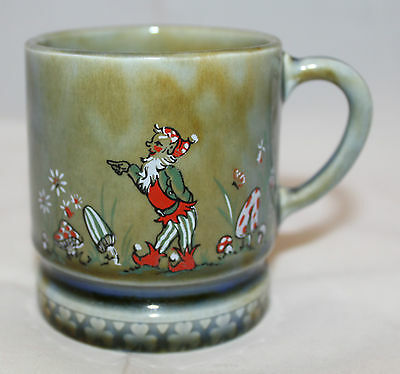 Vintage Wade Irish Porcelain Gnome Mushroom Coffee Tea Mug Cup Made in Ireland