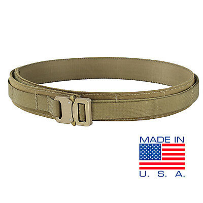 CONDOR US1019 TAN COBRA Buckle Tactical Heavy Duty MOLLE PALS Webbing Gun Belt L