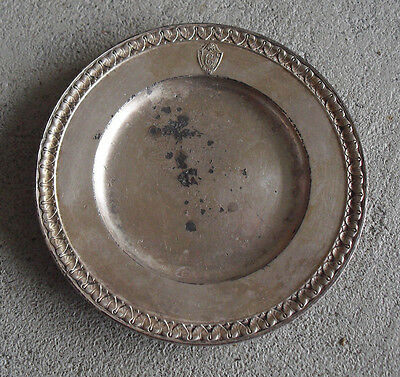 RARE Vintage 1917 The Commodore Hotel Silverplate Teacup Plate or Ashtray