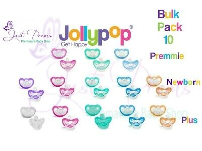 10 pack Jollypop~ the new Gumdrop ~Dummy Pacifier Soother Choose size and colour