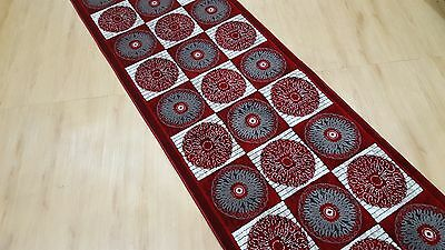 Red Stylish Turkish-Made Heat-Set Hall Runner (Assorted Lengths)