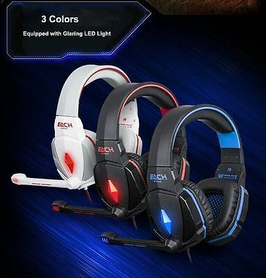 EACH G4000 Gaming Game Headset Headband Headphone USB 3.5mm with Mic For PC