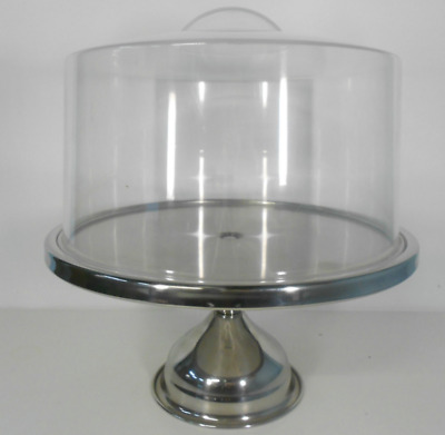 Stainless Steel Cake Display Stand & Cake Cover
