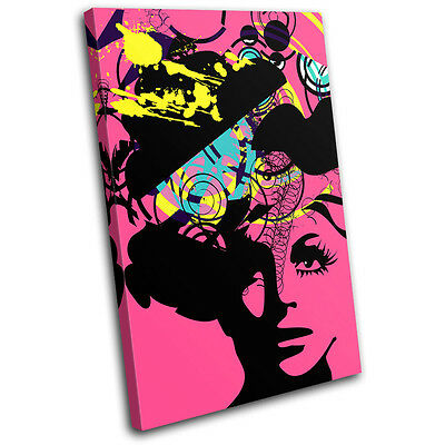 Illustraion Abstract Woman Pop Fashion Retro Canvas Art Picture Print Photo