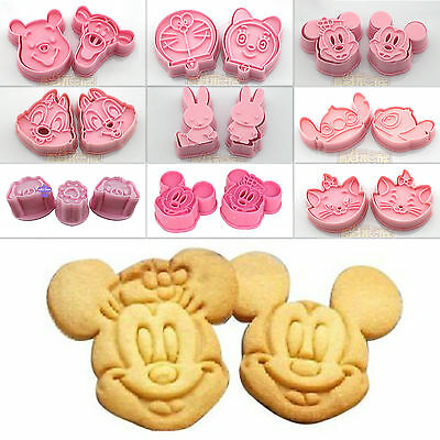 Cartoon Disney Cookie Biscuit Mould Fondant Cupcake Mold Tools Craft Cutters New