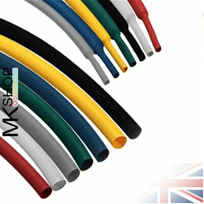 Black White Sizes & Lengths Heat Shrink Tube Sleeving Car Wire Wrap Heatshrink