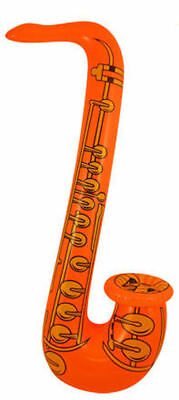Inflatable Orange Saxophone - 75cm - Pinata Toy Loot/Party Bag Fillers Wedding/K