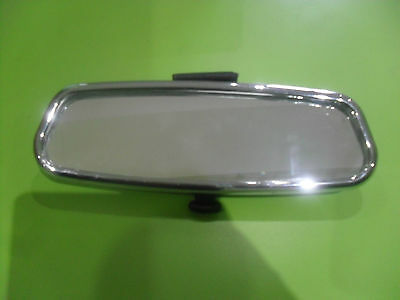 Chrome  Interior Stick On Dipping Rear View Mirror By Summit