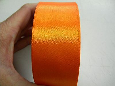 mercerie 1m de ruban satin 4cm largeur article neuf couture orange