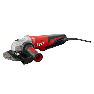 "Milwaukee 6"" 13 Amp Small Angle Grinder with Paddle Lock-On 6161-30 New"