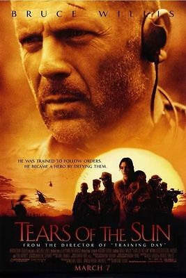 Tears of the Sun 2003 Original Double Sided Movie Poster 27x40 Bruce Willis