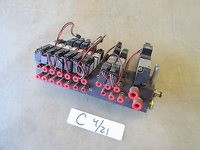 Used Air Manifold Block w/ Humphray Air Valves,  MAKE OFFER!!!!!!