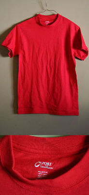 Lot Of 12 Port And Company Small Red Men's T-Shirts 100% Cotton Pc54 New!