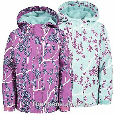 TRESPASS GIRLS WATERPROOF IMOGENE HOODED RAIN JACKET COAT KIDS CHILDS 3-12yrs