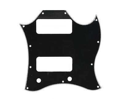 Standard SG SPECIAL Guitar Full Face Pickguard w/ P90 Pickup Hole Black 3 Ply