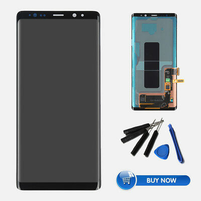 For Samsung Galaxy Note 8 Black LCD Screen Touch Digitizer Replacement Part QC
