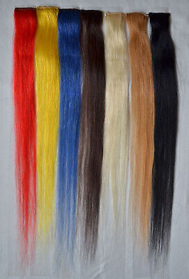 """Lot 18"""" Clip In Synthetic Fiber Women Hair Extensions Straight Any Color 7g/pc"""