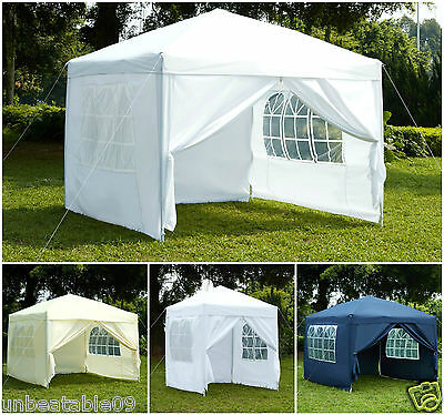 Pop-Up 3x3 2x2 FULLY WATERPROOF Gazebo with Sides and Bag Garden Outdoor Marquee