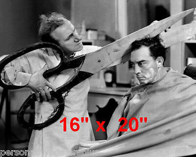"Buster Keaton~Hair Salon~Barber~Photo~Durante~Stylist~Poster~16"" x 20"""
