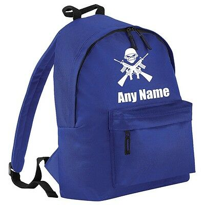 Personalised SKULL/ARMY Backpack/School/PE Bag. Choice Of Colours.