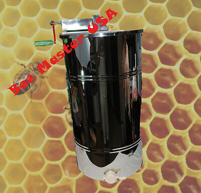 Pro'sChoice Best Honey Extractor 2 Frame Stainless Steel with Plastic Honey Gate