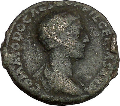 COMMODUS son of Marcus Aurelius Ancient Rare Big Roman Coin Knife, lituus i42237