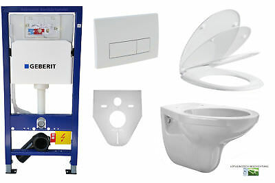 Geberit Duofix Komplettset Vorwandelement UP 100 Lotus Wand WC Set Delta 51 weiß